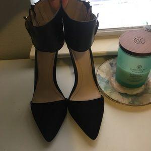 Zara wide ankle strap heel